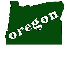 Great State of Oregon Photographic Print