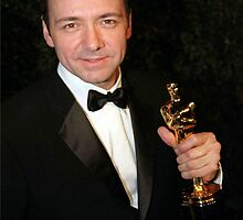 Kevin Spacey With his Oscar by Pamfakner