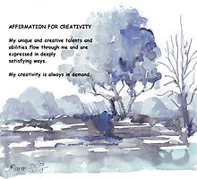 Affirmation for CREATIVITY by Maree  Clarkson