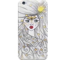 The girl and the golden beads. iPhone Case/Skin
