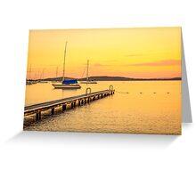 Belmont Lake Macquarie Australia Greeting Card