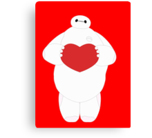 Baymax with Heart Canvas Print