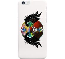 COLORFUL SKULL WITH WINGS - Marbles iPhone Case/Skin