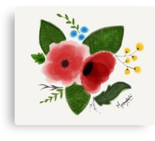 Flowers(Water color) Canvas Print