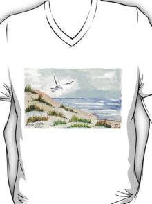 The Seagull and the beach T-Shirt