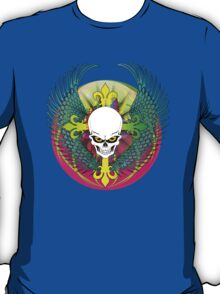 COLORFUL SKULL WITH WINGS - Bright Colors T-Shirt