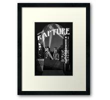 Bioshock -  Welcome To Rapture Greyscale Framed Print