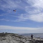 Kite Flying on Kingston Beach South Australia by SMahoney