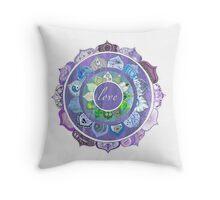 Positive Intentions Lotus Mandala Throw Pillow