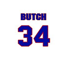 National baseball player Butch Metzger jersey 34 Photographic Print