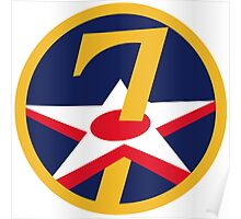 7th Air Force Insignia Poster