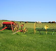 Old Farm Machinery by HALIFAXPHOTO