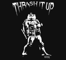 Thrash Metal Turtlemania Black and White by EvilutionE5150