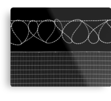Sharp Lazy Loops Metal Print