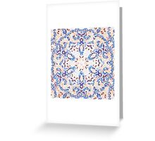 Blue Lace Netting Greeting Card
