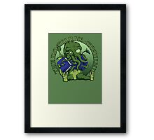 The Doctor Vs Cthulhu Framed Print