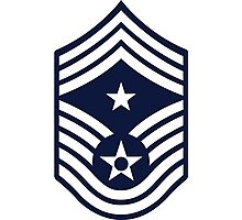 Air Force Command Chief Master Sergeant - E9 Photographic Print