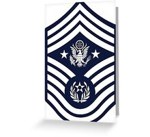 Chief Master Sergeant of the Air Force Greeting Card