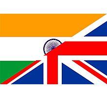 uk india flag Photographic Print