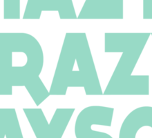 Lazy Hazy Summer Sticker