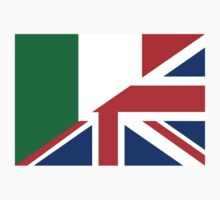 uk italy flag Kids Clothes