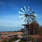 Windmill in Dutch Landscape by ienemien