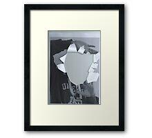 Breaking through paper Framed Print