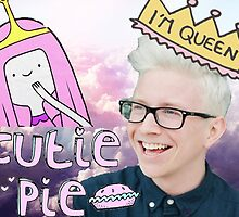 Tyler Oakley, Princess Bubblegum by happylittlephan