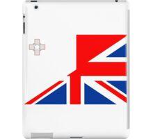 uk malta flag iPad Case/Skin