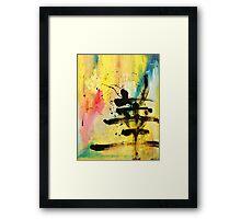 HANA Japanese KANJI painting abstract Framed Print