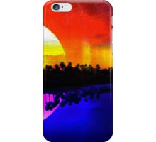 Sky Scape #1 - Beautiful Sun and Moon Reflective Landscape Design iPhone Case/Skin
