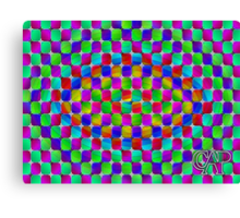 Tumbler #4 - IT MOVES! Psychedelic Optical Illusion Vibrant Colorful Trippy Design Canvas Print