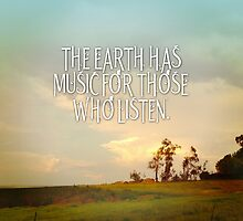 The Earth has Music for Those Who Listen by groovyspecs
