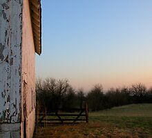 Barn at Sunset  by mnkreations