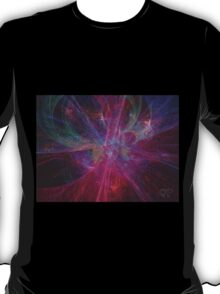 Void #2 - Colorful Purple Galaxy Abstract Intense Outer Space Design T-Shirt