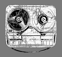 60's Style Reel to Reel Tape Deck by theshirtshops