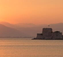 Sunset over Nafplio by Vagelis Georgariou