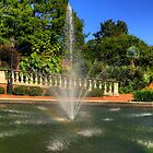 The Fountain with a little Rainbow in it. by imagetj