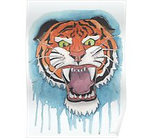 Tiger Watercolor Painting Poster
