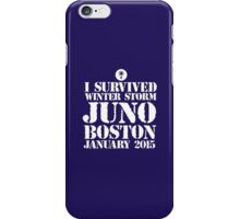 Excellent 'I survived Winter Storm Juno Boston January 2015' T-shirts, Hoodies, Accessories and Gifts iPhone Case/Skin
