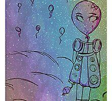 Galaxy Space Balloon Child Photographic Print