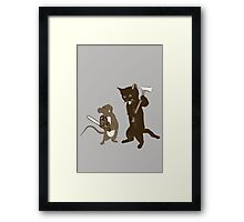 They bite, they fight Framed Print