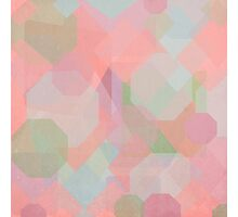 Hexagon, Square and Diamond Patterned Abstract Design Photographic Print