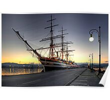 Sailing Ship in the Dawn   Poster