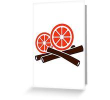 Orange cinnamon Greeting Card