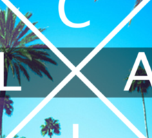 Los Angeles California CALI X LA palm trees Sticker