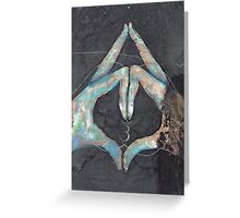 Ajna - third eye chakra mudra  Greeting Card