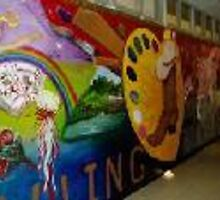 MURAL~DOWLING MIDDLE SCHOOL by artist4peace