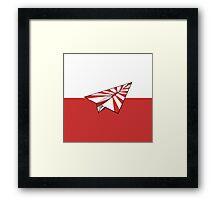 Paper Airplane 76 Framed Print