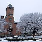 Old courthouse in the snow by Thad Zajdowicz